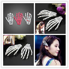 Hair Clips 2pcs Special Halloween Zombie Skull Skeleton Hand Bone Claw Hairpins