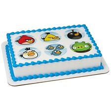 Angry Birds Licensed ~ Frosting Sheet Cake Topper ~ Edible Image ~ D20429