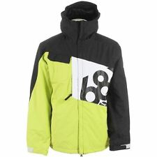 686 Mannual Iconic Insulated Snowboard Ski Jacket Acid Green Men's S M L NEW