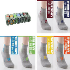 Seven Days Socks Durable 7 Pairs Men's Boys Lot Casual Dress Socks Week Socks