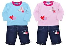 Baby Girls 2 Piece Set Top Jeans Outfit Clothes Clothing 0 3 6 9 Months
