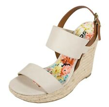 CHELAN! Soda Women's Double-Band Slingback Platform Espadrille Wedge Sandals