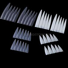 10Pcs Incisive False Nail Professional Salon False Acrylic Nail Art Tips 52XQ