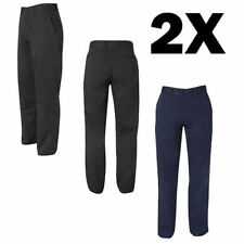 2x Mens Chino Pants Trousers Casual Business Slacks Work Wear Formal Classic Fit