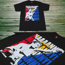 """RARE Manny Pacquiao """"MANNY!"""" Chant t-shirt S or XL _ boxing ring Philippines vtg"""