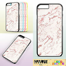 MARBLE ROSE GOLD DESIGN TUMBLR For iPhone Samsung HTC Hard/Rubber Case Cover