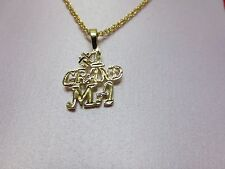 14 KT GOLD PLATED #1 GRANDMA CHARM &  ROPE CHAIN  SET-2110