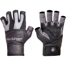 Harbinger 1340 BioFlex Wristwrap Weight Lifting Gloves - Gray