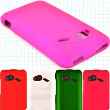 Hard Rubberized Slim Snap On Phone Case for HTC Incredible 4G LTE / Fireball