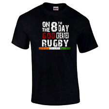 On The 8th Day God Created Rugby Ireland Irish Gift T-Shirts up to 5XL