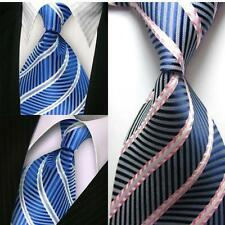 Men's New Stripes Neck Ties 100% Silk Jacquard Woven Formal Meeting Necktie DD20