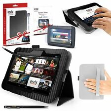 """ORZLY LEATHER STAND CASE FOR HUDL 2 8.3"""" HAND STRAP SCREEN PROTECTORS STYLUS PEN"""