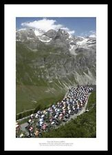 Tour de France 'Alpine Pass' Cycling Photo Memorabilia (RE353)
