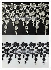 3Yards Flower Lace Tassels Trimming Sewing Applique for Wedding Craft DIY NEW