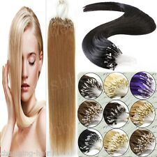 Brazilian Remy Human Hair Extensions Easy Loop Micro Ring Beads Tipped Hair