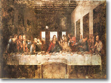 HUGE DaVinci THE LAST SUPPER Stretched Canvas Giclee Art Repro Print ALL SIZES