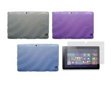 TPU Gel Skin Cover Case and Screen Protector for Acer Iconia W510 Tablet