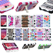 For LG VS810PP MS359 F60 LS660 Hybrid Rugged Rubber Shockproof Hard Case Cover