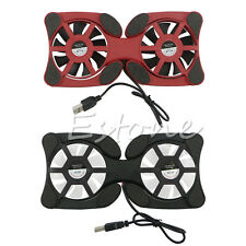For Laptop Notebook Folding Cooler Cooling Pad Stand USB Mini 2 Fan