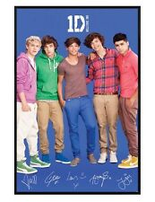 One Direction Gloss Black Framed Boy Band Perfection 1D Poster 61x91.5cm