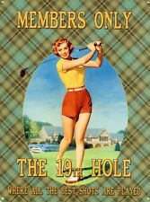 New Vintage Golfing Advertisement The 19th Hole Metal Tin Sign