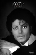 New Black and White Portrait Michael Jackson Poster
