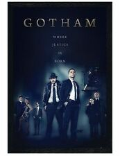 Gotham Black Wooden Framed Where Justice Is Born Maxi Poster 61x91.5cm