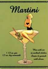 New Eureka Lake Studio Martini Girl Metal Tin Sign