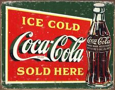 New Coca Cola Vintage Coke Sign Metal Tin Sign