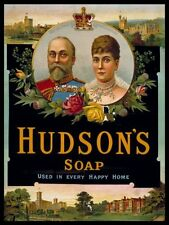 New In Every Happy Home Hudson's Soap Metal Tin Sign