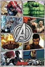 The Avengers Comic Panels Poster 61x91.5cm