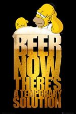New The Simpsons Homer Simpson Beer A Temporary Solution Poster