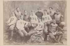 "1897 Yale Football Team Vintage Type 1 Cabinet Photo in Full Uniform,  5"" x 8"""