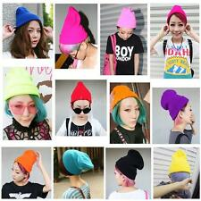 Unisex Women Men Knit Ski Headwear Warm Slouch Hat Cap Beanie Hip-Hop Hats A3LB