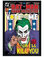 Batman Black Wooden Framed Vote for me...or I'll kill you! Poster 61x91.5cm