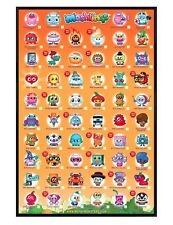 Moshi Monsters 2 Gloss Black Framed Moshlings Tick Chart Maxi Poster 61x91.5cm