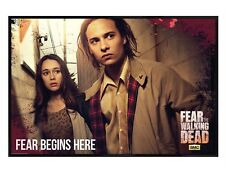 Fear The Walking Dead Gloss Black Framed Nick And Alicia Maxi Poster 61x91.5cm