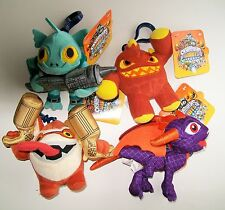 "SKYLANDERS GIANTS 4"" PLUSH CLIP-ON Pick ERUPTOR Gill Grunt SPYRO Trigger Happy"