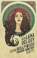 Lana Del Rey Music Star Fabric Art Cloth Poster 20inch x 13inch Decor 111