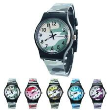 Unisex Children Watch Camouflage Silicone Sports Watch Analog Quartz Wristwatch