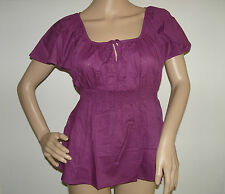 H&M Empire Babydoll Tunic Blouse Carmen Shirt with Smock partie
