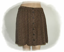 H&M Ladies Skirt Summer skirt with button brown Flowers floral