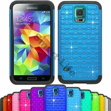 Bling Hybrid Hard & Silicone Shock Proof Case For Samsung Galaxy S5 i9600, S6