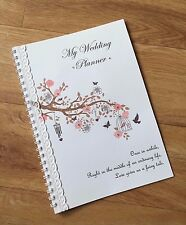 Vintage Birdcage or Bunting A5 Personalised Brides Wedding Planner or Notebook