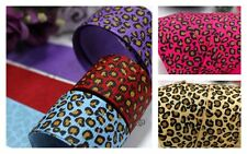 3m Grosgrain Ribbon Animal Leopard Print 9 & 22mm wide Art Craft Scrapbooking