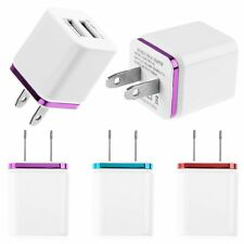 2.1A+1A US Plug USB Travel AC Power Wall Charger Adapter For iPhone HTC Samsung