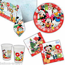 Disney Mickey Minnie Mouse Christmas Party Plates Napkins Cups Tableware Listing