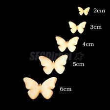 50pcs Butterfly MDF Wooden Shape Craft Embellishments Scrapbooking Wood Art 3mm