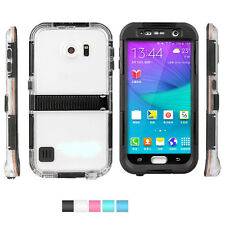 Waterproof Shockproof Back Clear Case Hard Cover Skin For Samsung Galaxy S6 Hot