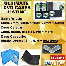 BRAND NEW DVD Covers DVD Cases Single Double Triple Black Clear SLIMLINE Cases